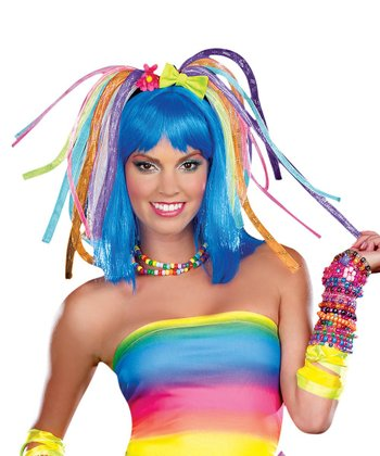 Blue Kandi Kid Light-Up Wig