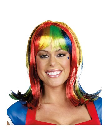 Rainbow Light-Up Wig
