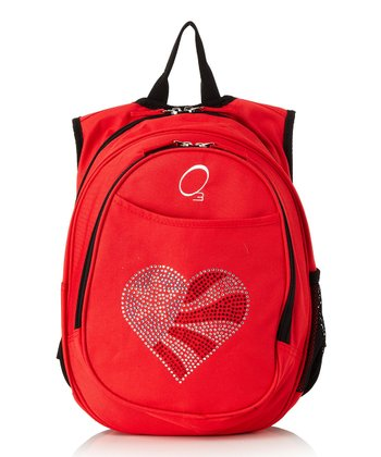 Red Flag Heart All-in-One Backpack