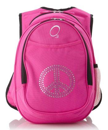 Pink Rhinestone Peace All-in-One Backpack