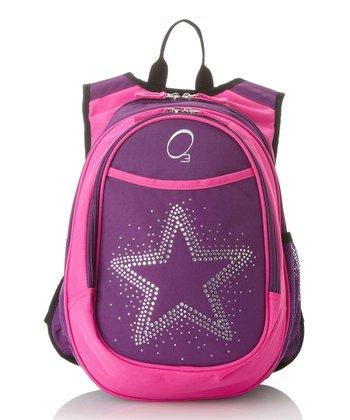 Pink & Purple Rhinestone Star All-in-One Backpack