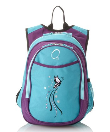 Turquoise Butterfly All-in-One Backpack