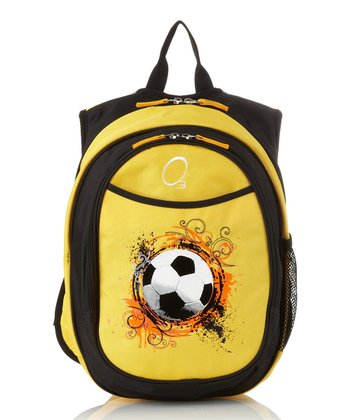Yellow Soccer All-in-One Backpack