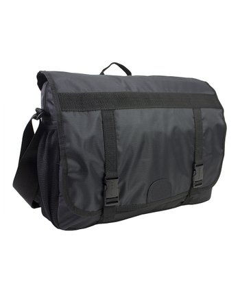 Double-Buckle Messenger Laptop Case