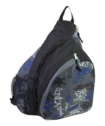 Graffiti Trapezoid Sling Backpack