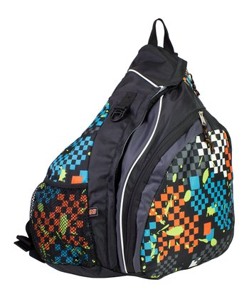 Checkerboard Trapezoid Sling Backpack