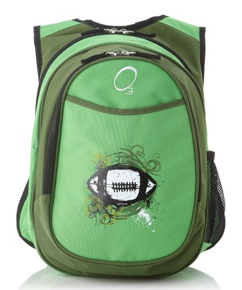 Green Football All-in-One Backpack
