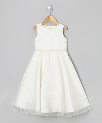 Ivory Pearl Dress - Girls