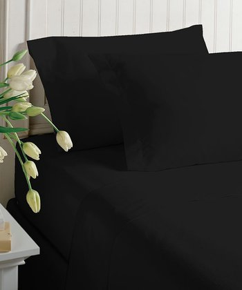 Black Satin Sheet Set