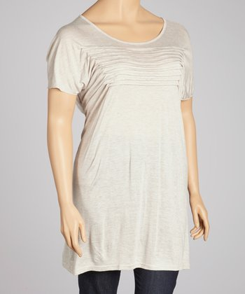 Beige Tiered Tunic - Plus