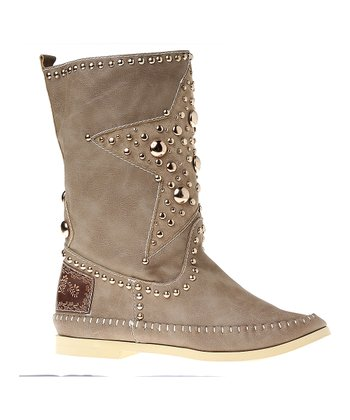 Beige Star Boot