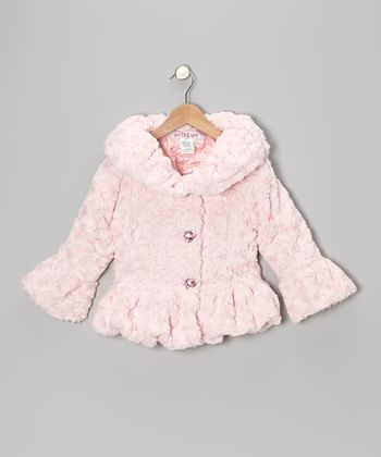 Pink Faux Fur Coat - Toddler & Girls