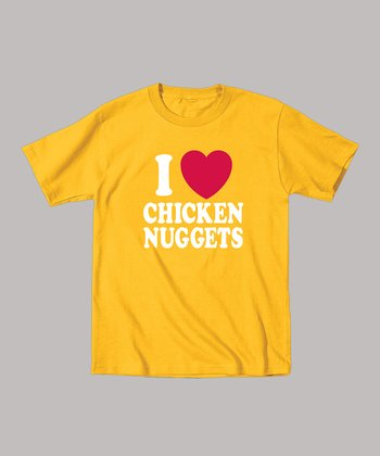 Yellow 'I Love Chicken Nuggets' Tee - Toddler & Kids