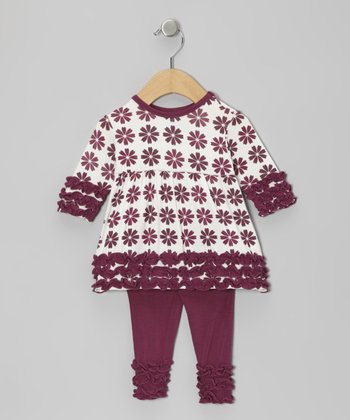 Woodland Flower Ruffle Tunic & Leggings - Infant & Toddler