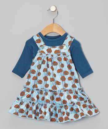 Pond Poppy Dress & Long-Sleeve Tee - Infant, Toddler & Girls