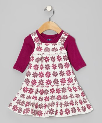 Woodland Flower Dress & Long-Sleeve Tee - Infant, Toddler & Girls