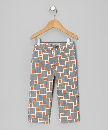 Stone Lattice Corduroy Pants - Infant