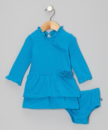 Dragonfly Fleece Ruffle Dress & Diaper Cover - Infant, Toddler & Girls