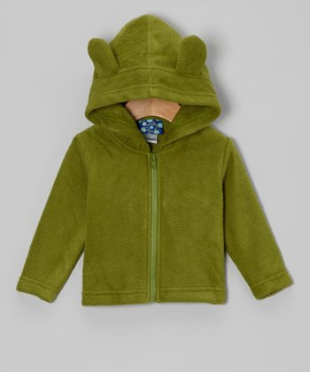 Moss Fleece Critter Zip-Up Hoodie - Infant & Toddler