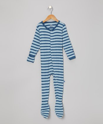 KicKee Pants Twilight Harvest Stripe Footie - Toddler