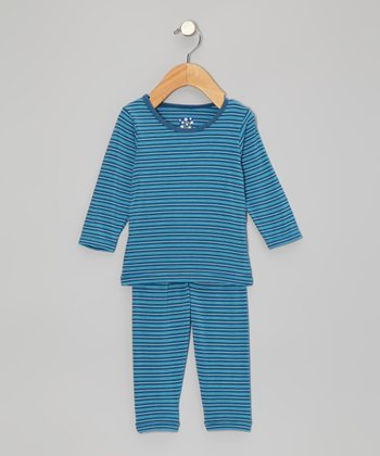 KicKee Pants Twilight Stripe Long-Sleeve Pajama Set - Infant, Toddler & Boys