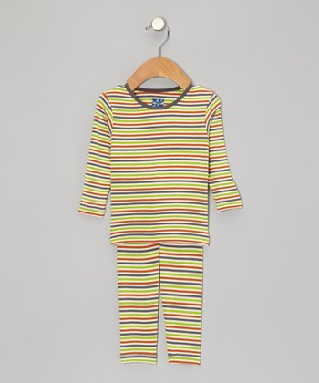 Harvest Stripe Long-Sleeve Pajama Set - Infant & Toddler