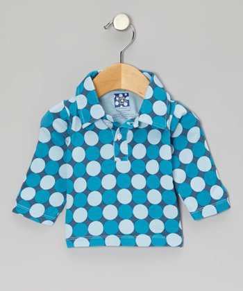 Twilight Polka Dot Long-Sleeve Polo - Infant & Boys