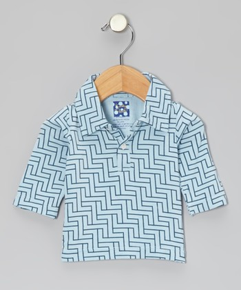 KicKee Pants Pond Lattice Long-Sleeve Polo - Infant