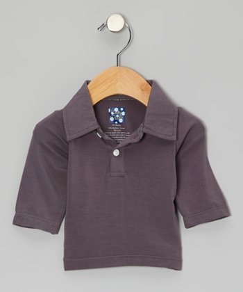 Stone Long-Sleeve Polo - Infant, Toddler & Boys