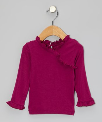 Orchid Ruffle Long-Sleeve Tee - Infant, Toddler & Girls