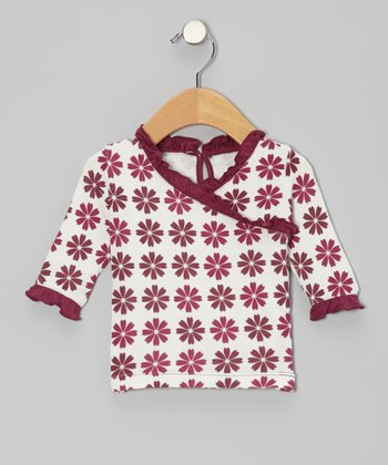 Woodland Flower Long-Sleeve Surplice Tunic - Infant, Toddler & Girls
