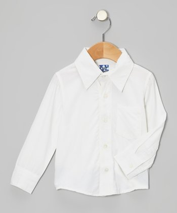 Natural Long-Sleeve Button-Up - Infant, Toddler & Boys