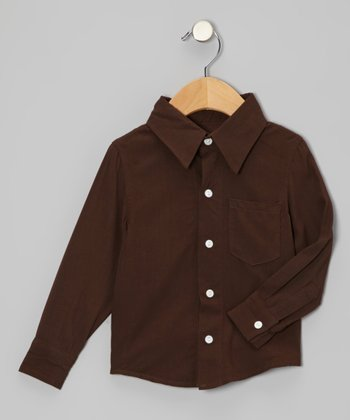 KicKee Pants Bark Long-Sleeve Button-Up - Infant & Boys