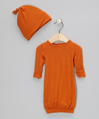 Harvest Gown & Single-Knot Beanie - Infant