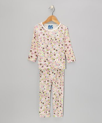 Funky Girl Polka Dot Long-Sleeve Pajama Set - Infant & Toddler