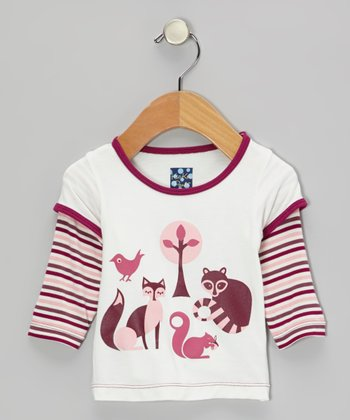 Woodland Critters Layered Long-Sleeve Tee - Infant & Toddler