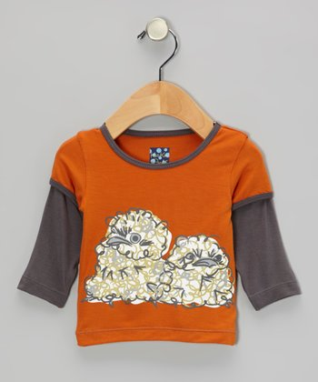 Harvest Fluffy Owl Layered Long-Sleeve Tee - Infant, Toddler & Boys