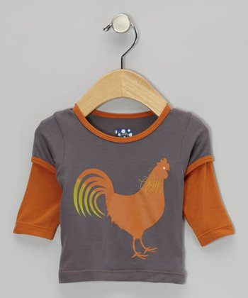 Stone & Harvest Rooster Layered Long-Sleeve Tee - Infant & Toddler