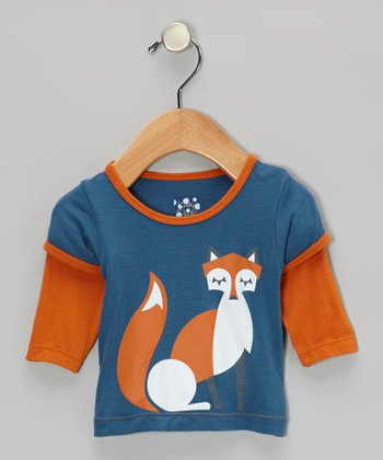 Twilight & Harvest Fox Layered Long-Sleeve Tee - Infant & Toddler
