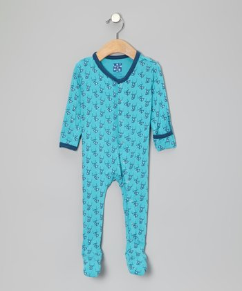 Confetti Blue Monkey Footie - Infant
