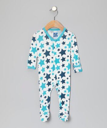 Confetti Blue Star Footie - Infant