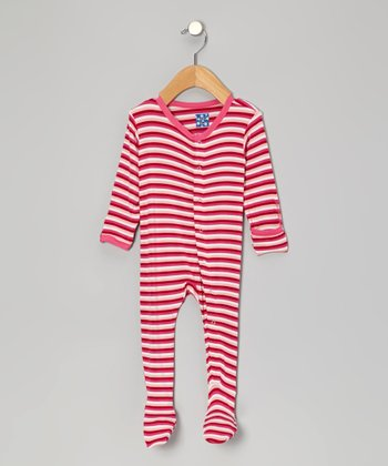 KicKee Pants Candy Stripe Footie - Infant