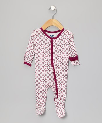 Orchid Lattice Ruffle Footie - Infant, Toddler & Girls
