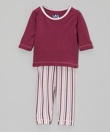 Orchid & Lotus Stripe Pajama Set - Infant