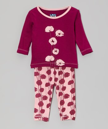 Lotus Poppy Long-Sleeve Pajama Set - Infant