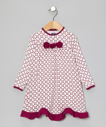 Orchid Lattice Ruffle Flower Dress - Infant