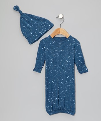 Twilight Starry Sky Gown & Single-Knot Beanie - Infant