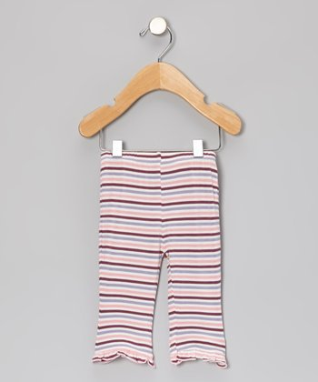 Lotus Stripe Ruffle Pants - Infant
