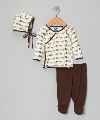 Natural Tiger Lion Wrap Top & Pants - Infant