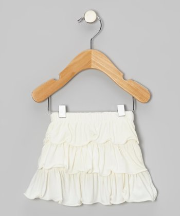 Natural Tiered Ruffle Skirt - Infant